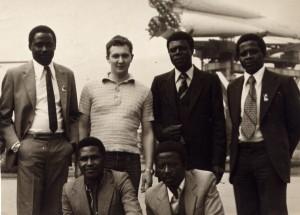 Экскурсия с военнослужащими Мозамбика и Гвинеи-Бисау на ВДНХ. 1982.